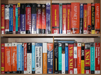 A not-great photo of some of my technical books
