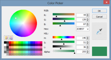 Support for loading and saving palettes