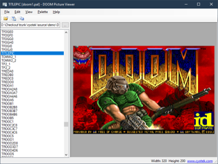 The title screen from shareware doom