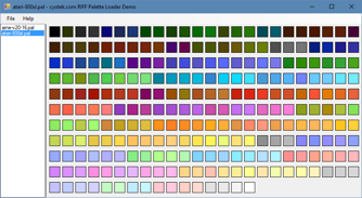 Example program that can read the contents of a RIFF palette
