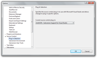 Configuring Visual Studio to use AnkhSVN