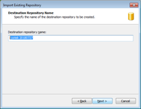 Specifying the repository name