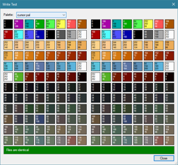 n example of writing an OpenRA palette, showing no differences between the two